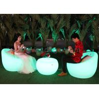 Plastic led outdoor bar chairs smd 5050 rgb leisure plastic chairs