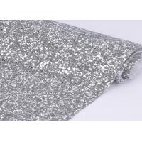 """54"""" Width Silver Glitter Cotton Fabric For Making Shoes Material And Wall Covering"""