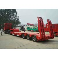 Quality Low Bed Heavy Duty Semi Trailers , 3 Axle Semi Trailer 50 To/ 60 To / 70 ton for sale