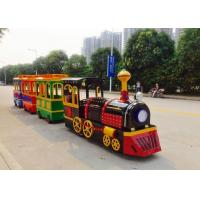 Quality Colorful Painting Shopping Mall Train , FRP Material Trackless Train Ride for sale