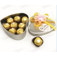 Quality beautiful wedding gift tin box with ribbon for sale