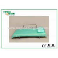 Quality Light Weight Anti Static Blue Disposable Bed Sheets 30gsm to 40gsm , 60x180cm for sale