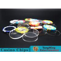 Quality Acrylic Plastic Separate Customized Poker Chips For Gambling Dedicated Using for sale