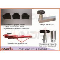 Buy One Side Manual Two Post Hydraulic Car Lift Mechanical Release at wholesale prices