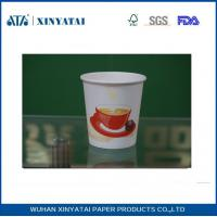 Quality Disposable PE Coated Double Walled Paper Coffee Cups , Insulated Paper Espresso Cups for sale
