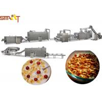 Quality Breakfast Cereals Extruder Machines , Corn Flakes Production Line CE Certificated for sale