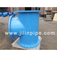 Quality ductile iron pipe fittings, all flanged tee for sale