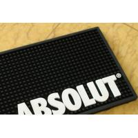 Quality Black PVC Bar Mat , Personalised Bar Runners Mat Non Phthalate for sale