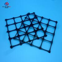Quality High Tensile Strength Pp Biaxial Geogrid / Black Bi - Direction Geotech Grid for sale