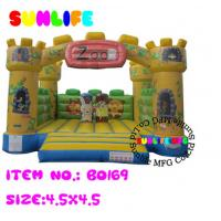 Quality inflatable 0.55mm pvc tarpaulin jumping castle BO185(169) for sale