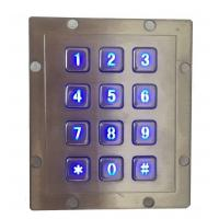 IP65 rear panel mounting vending machine keypad by backlit stainless steel material
