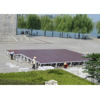 Quality Deep Red Aluminum Stage Platform 1.22 x 2.44 Meter Easy Installation for sale