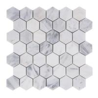 China premium colorful Hexagon Stone Mosaic Tile For Bathroom Remodeling on sale