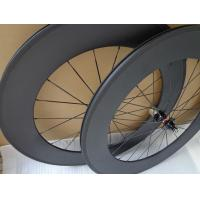 Quality Clincher Type 80 Full Carbon Bike Wheels , Carbon Fiber Road Wheels Super Light Weight for sale
