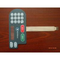 China Waterproof PC Embossed Tactile Membrane Switch Panel For Air Conditioner on sale