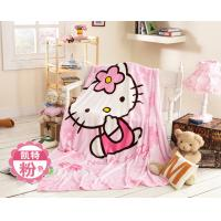 Quality Cute Animal Print Flannel Baby Blanket Screen Printing 100% Polyester Microfiber for sale