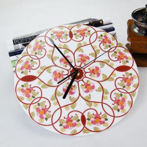 China Beautiful Flower Wall Decoration Acrylic Art Wall Clock LY-050  on sale