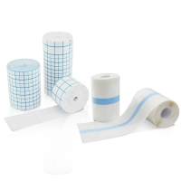 Buy cheap PU or spun-laced non woven fabric material adhesive dressing roll from wholesalers