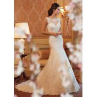 Buy cheap White A Line Style Wedding Dresses / Custom Made Ivory Lace Wedding Dress from wholesalers
