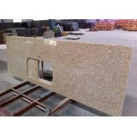 Thailand Gold Granite Island Top Rectangular Basin Hole For Commercial Projects