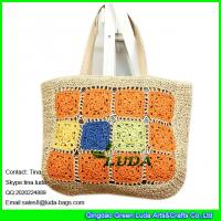 Luda 2016 new designer beach bag colored paper straw for Designer beach bags and totes