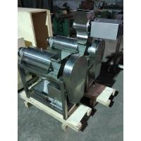 China Screw Press Crusher And Fruit Industrial Juicer Machine For Pineapple , Ginger , Garlic on sale