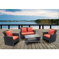 Quality Comfortable Outside Patio Seating Sets With Cushion PE Wicker Modern Style for sale