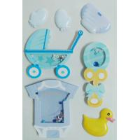 printed Paper Shaker Sticker with Accessories Rubber Duck design OEM / ODM for sale