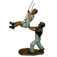 Buy Art Deco Bronze Children Playing Sand Sculpture at wholesale prices