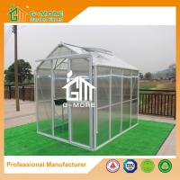 Quality 258X191X218CM White Color Imperial Series Single Door Polycarbonate Greenhouse for sale