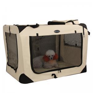 China Modern Songmics Pet Carrier Box For Car Travel Soft Fleece Mat  Comfort Ensured on sale