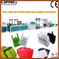 Quality 21kw non woven fabric shopping / carry bags making machine for sale