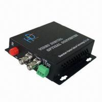 Quality 20km CCTV Transmitter and Receiver with 2-channel Video, 1 Return Data, Single-mode, 1 Core Fiber for sale