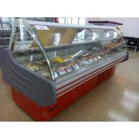 China Liftable Glass Door Deli Display Refrigerator / Red Or White Color Meat Display Chiller on sale