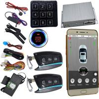Quality Gps Car Alarm That Connects To Phone smartphone remote start With Smart Key Auto Central Lock for sale