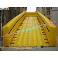Customized 0.55MM PVC tarpaulin zorb slide for grass ball use, commercial inflatable slide