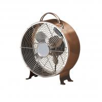 Copper 9 Inch 30W Antique Electric Fans 4 Aluminum Blade With Safety Metal Grill