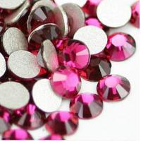 China ss20/5mm rose color Round glass beads flat back rhinestone beads on sale