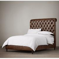 High end king leather bed fully upholstered king size for High end king size bed