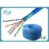 Communication Cat6 Lan Cable Network Wire Shielded Solid Bare Copper For Computer