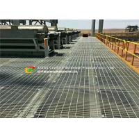 Quality Galvanized Low Carbon Steel Bar Grating Plain Type Anti - Theft Design for sale