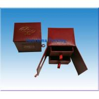 China paper red jewelry box for ring packaging on sale
