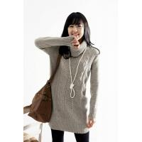Quality lady cotton sweater,women knitted sweater,long sweater LYC890368 for sale