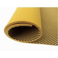 Textured Natural Rubber Yoga Mat With Mesh Fabric Non