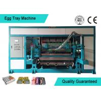 Quality Powerful Automated Rotary Egg Tray / Fruit Tray Moulded Machine 4000pcs/h for sale