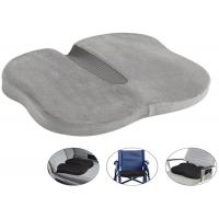 Orthopedic Car Driver Memory Foam Seat Cushion With Zippered Cover