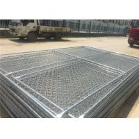"Quality Carbon Steel Pipe Temporary Chain Link Fence Metal Fence Panels 6'X9.5' 2⅜""X2⅜"" for sale"