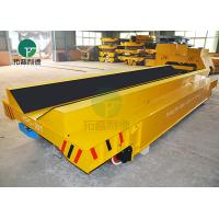 China 20-100 Ton Steel Pipe Motorized Load Railway Transport Cast Iron Rail Truck Cart With V Deck on sale