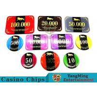 Quality 3.3mm Thickness Professional Poker Chips With Aluminum Security Chips Case for sale