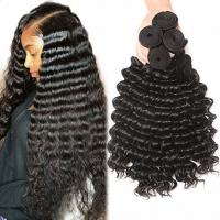 Quality Deep Curly 100% Cambodian Virgin Human Hair Extensions For Black Ladies for sale